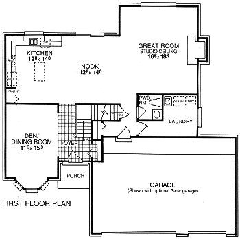 Akers Colonial First Floor Plan