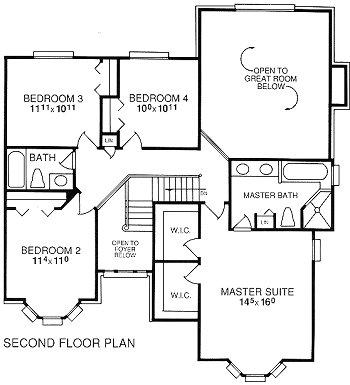 Akers Colonial Second Floor Plan